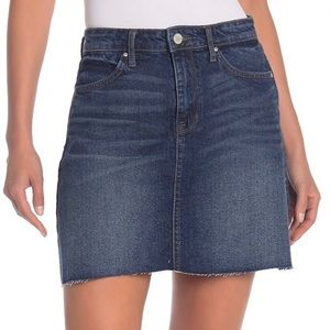 NWT William Rast Dark Maya Raw Hem A-Line Skirt 28